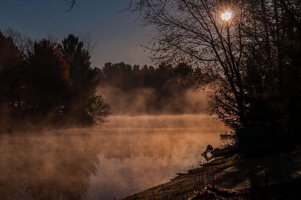 2015 Gitchegume Lake Sunrise & Sunset in October -...