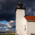 2015 Sand Point Light in Escanaba, MI. with Clouds @ Sunset
