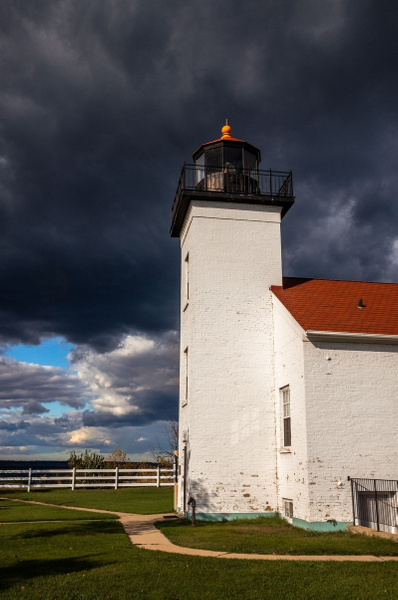 2015 Sand Point Light in Escanaba, MI. with Clouds @...