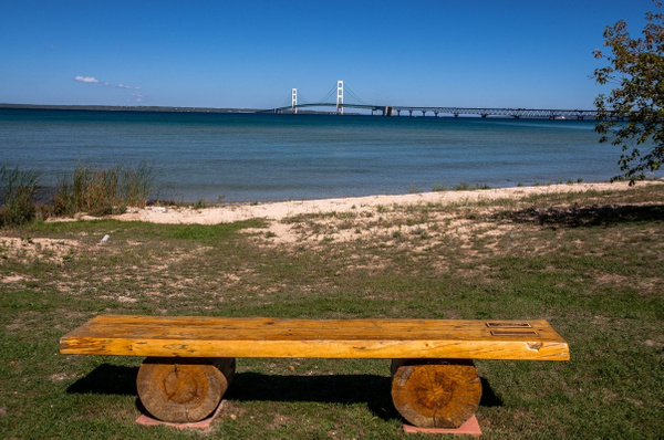 2015 Mackinaw City in Northern Michigan in October by...