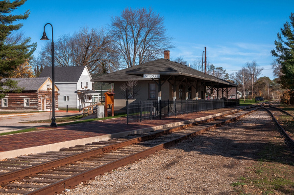 2015 St. Louis, Michigan Railroad Depot in early Nov. by...