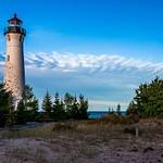 2015 Crisp Point Light on Lake Superior in late evening in September