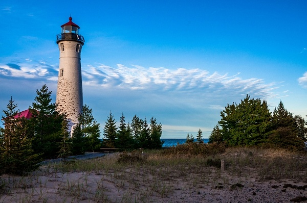 2015 Crisp Point Light on Lake Superior in late evening...