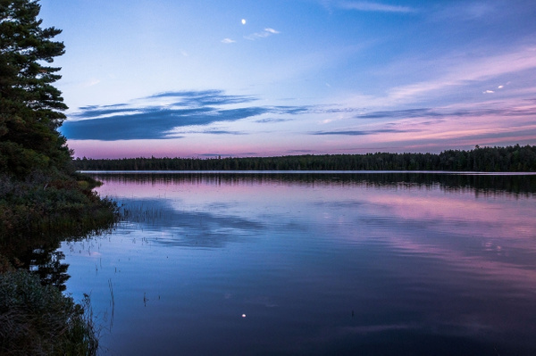 2015 Sunset over Culhane Lake on the way back from Crisp...