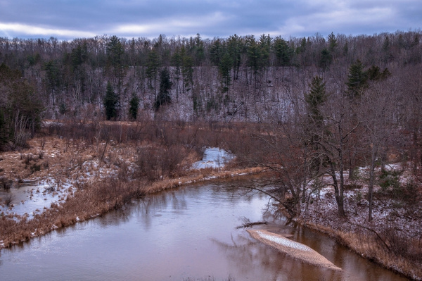 2015 Light Snow on the Pine & Manistee Rivers in...