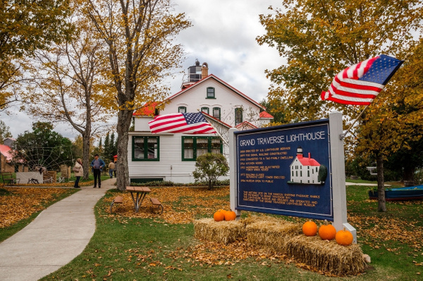2015 Grand Traverse Lighthouse Museum in October by...