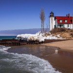 2016 Point Betsie Light - Early Spring Thaw Feb.