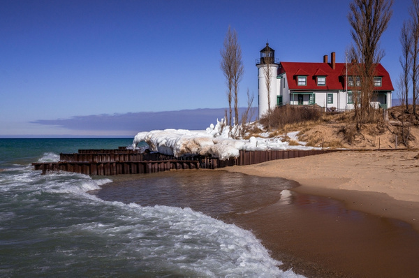 2016 Point Betsie Light - Early Spring Thaw Feb. by...