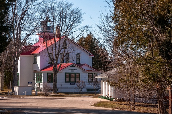 2016 Grand Traverse Lighthouse Museum in March by...