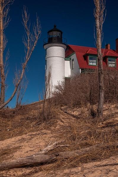 2016 Point Betsie Lighthouse in mid March by SDNowakowski