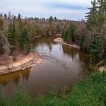 2016 Manistee River @ The GLC RR Bridge in Northern Michigan in March