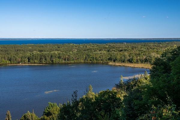 2015 Point Iroquois Light in September by SDNowakowski
