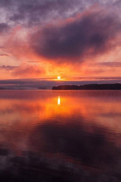 2012 Sunrise on Duck Lake inside Interlochen State Park...