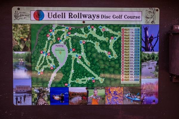 2016 Udell Rollways Disc Golf Course by SDNowakowski