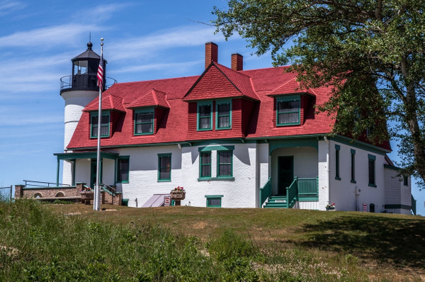 2016 Point Betsie Lighthouse on Lake Michigan in July by...