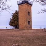 2016 Peninsula Point Light off Lake Michigan in the Upper Peninsula of Michigan