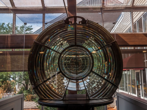 2012 Toledo Harbor Lighthouse 3 1/2 Order Fresnel Lens located inside Maumee May State Park by SDNowakowski