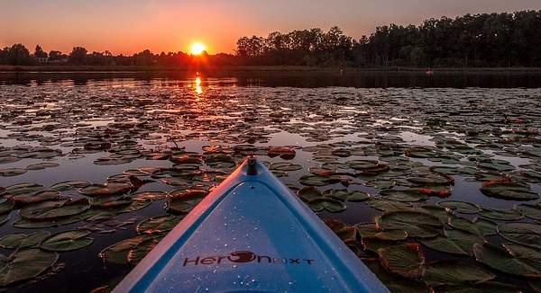 Sunset on Bishop Lake