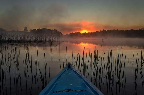Kayaking Bishop Lake