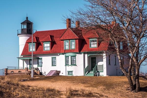 2017 Point Betsie Lighthouse Feb. by SDNowakowski