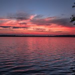 2016 Sunsets views on Green Lake Located inside Interlochen State Park in June 2016