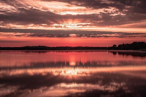 2016 Sunrise on Lake Cadillac by SDNowakowski