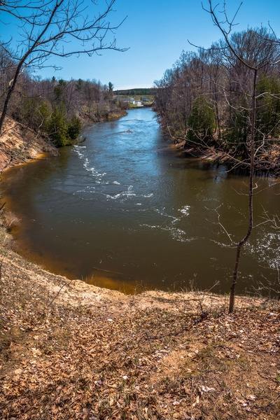 2017 Manistee River Trail System Suspension Bridge by SDNowakowski
