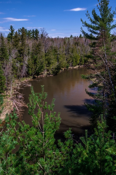 2017 Sun & Clouds on the Manistee River with & without the circular polorizer by SDNowakowski
