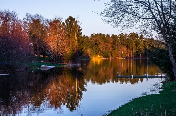 2017 Almost Sunset on Lake Gitchegumee in Buckley, Michigan by SDNowakowski
