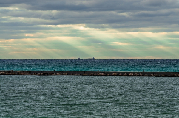 2016 Frankfort Pier Light in October by SDNowakowski