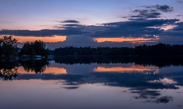 2017 Lake Gitchegumee Sunset on May 28, Memorial Day Weekend by SDNowakowski