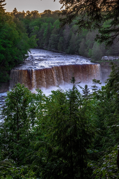 2017 Tahquamenon Upper Falls in June by SDNowakowski