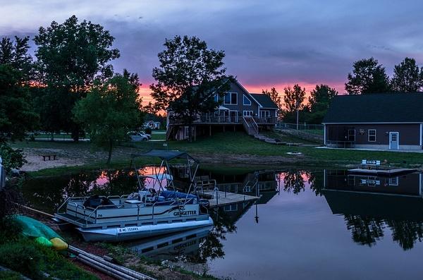 2017 Lake Gitchegumee sunset evenings around the lake in...