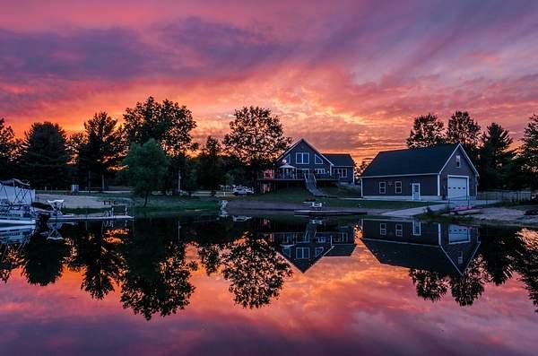 Sunset Around Lake Gitchegumee