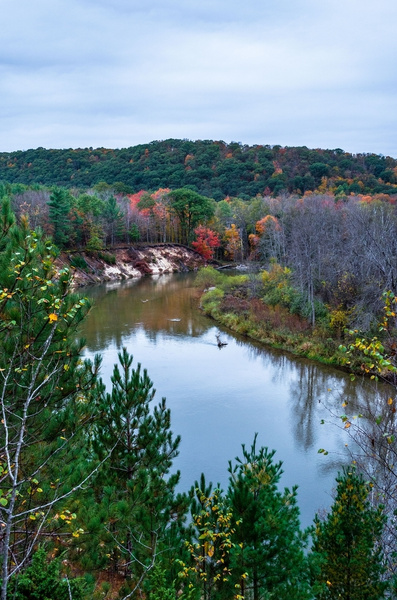 2017 Fall Color pictures from Eagle View & Baxter Bridge on the Manistee River in Northern Michi by SDNowakowski