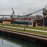 2017 Sault Ste Marie Locks in Sault Ste Marie, Michigan in Nov.