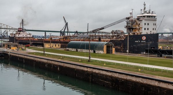 2017 Sault Ste Marie Locks in Sault Ste Marie, Michigan in Nov. by SDNowakowski