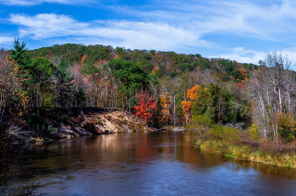 Fall Colors on the Manistee  River by SDNowakowski