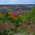 2017 Dead Man's Hill Fall Colors overlooking the Jordan River Valley in October