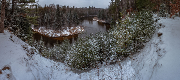 2017 Panoramic Photos of the Manistee River after a...