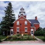 2014 Big Bay Point Lighthouse on Lake Superior north of Marquette, Michigan