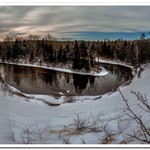 2018 Manistee River @ County Line winter Jan.