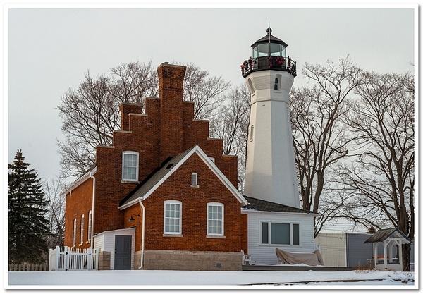 2018 Port Sanilac Lighthouse in January by SDNowakowski