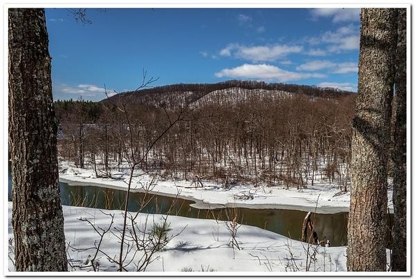 2018 Snow on Manistee River @ Baxter Bridge in Northern...