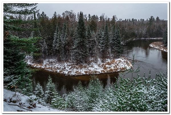 2017 Manistee River winter Pics @ RR Bridge in Northern...