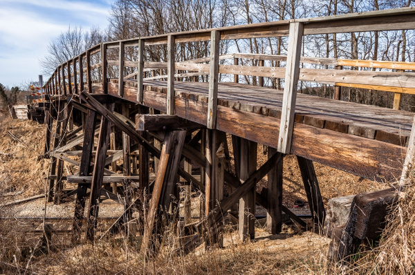 Old Wooden Trestle by SDNowakowski