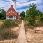 2017 AuSable Point Lighthouse - Pictured Rocks - August