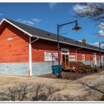 2017 Evart Railroad Depot now being used as City Hall in Evart, Michigan