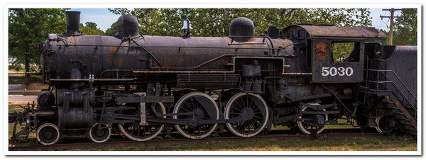 2017 GTW # 5030 Steam Locomotive in color &...