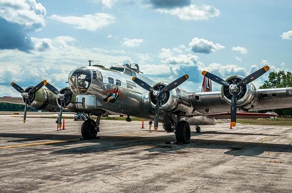 2018 B-17 Bomber Madras Maiden on Display at The Toledo...